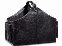 Z1014 Leather Newspaper Rack